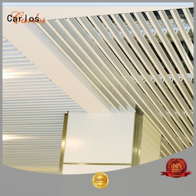 Custom series grille metal ceiling panels Carlos buckle
