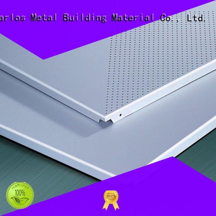 ceiling blade baffle Carlos Brand metal ceiling panels supplier