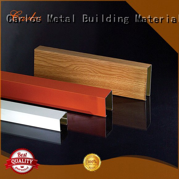 Custom square metal ceiling panels blade perforated metal ceiling tiles suppliers
