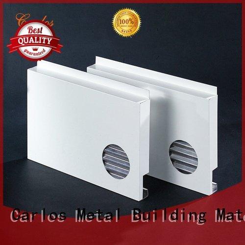 flat metal Carlos aluminum wall panels exterior