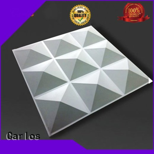 Custom square art aluminum panels Carlos wavy