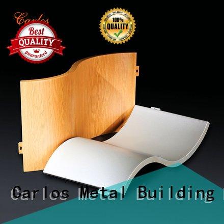 Hot aluminum wall panels exterior round square board Carlos Brand