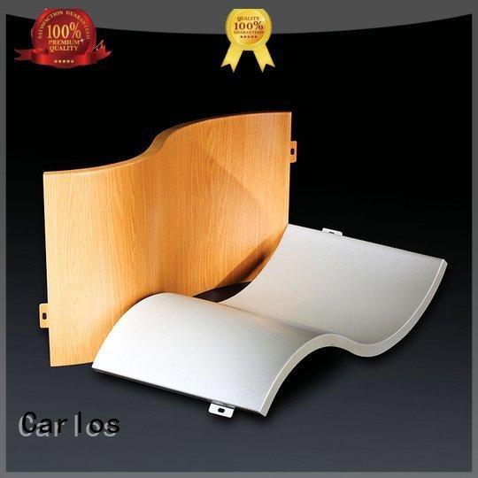 column single Carlos aluminum panels