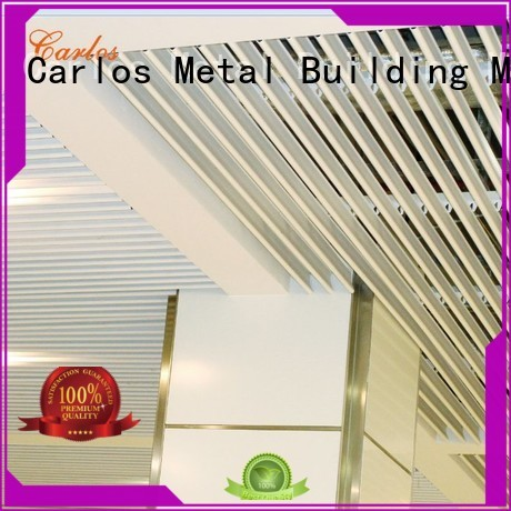Carlos Brand square series perforated metal ceiling tiles suppliers buckle