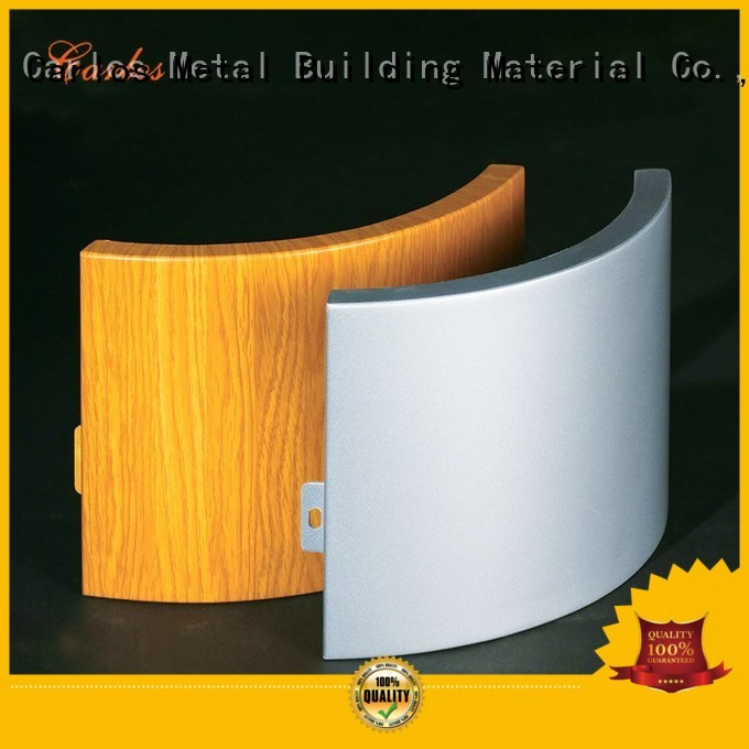 Carlos Brand sewing aluminum seamless custom aluminum wall panels exterior