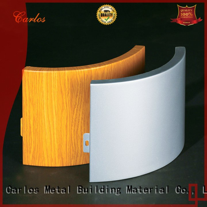 Carlos aluminum panels art square package modeling