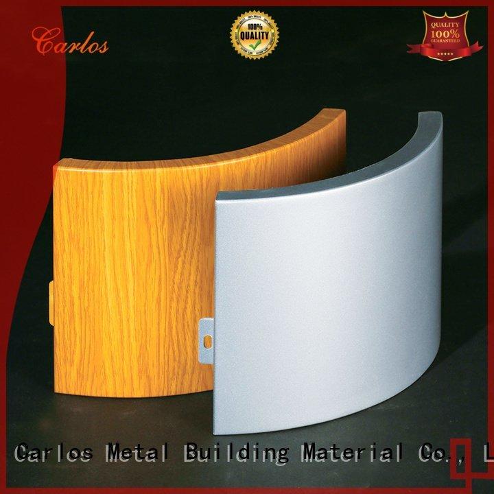 Carlos aluminum panels art square package modeling