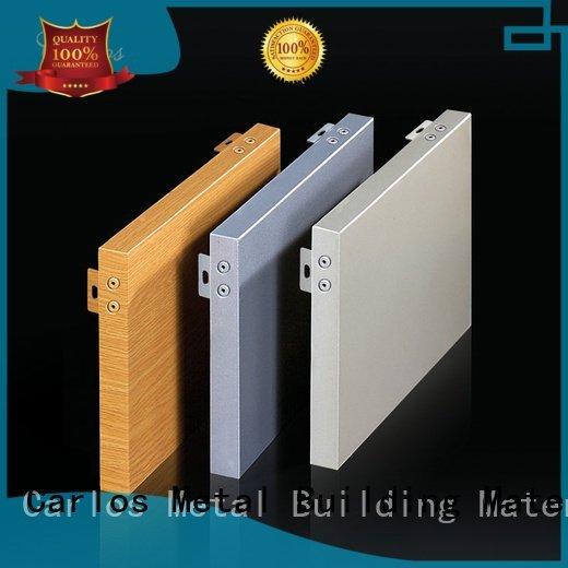 Carlos flat circular aluminum panels sewing corrugated