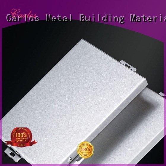 Carlos Brand round flat aluminum wall panels exterior columns art