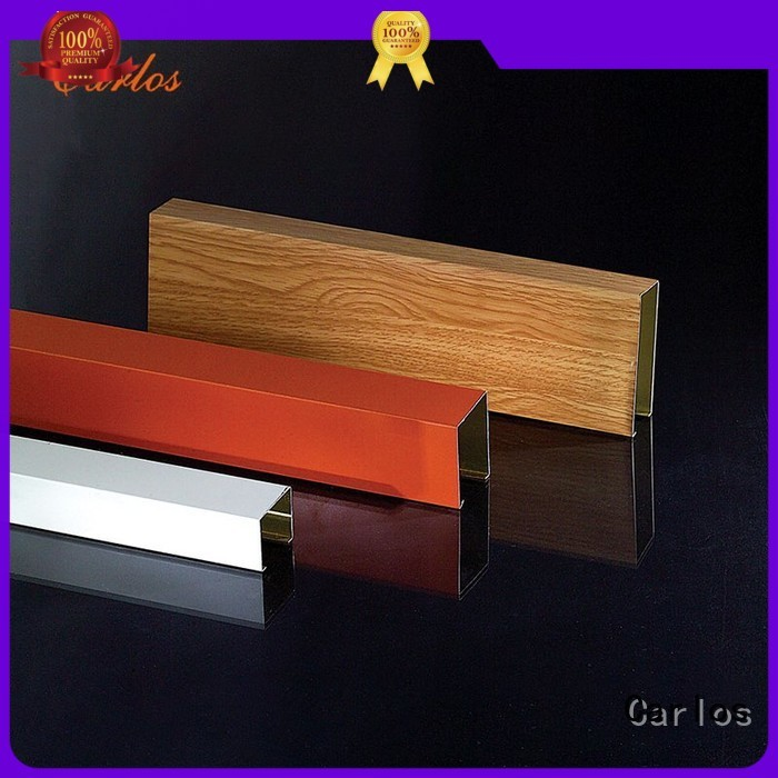 Quality Carlos Brand series baffle metal ceiling panels