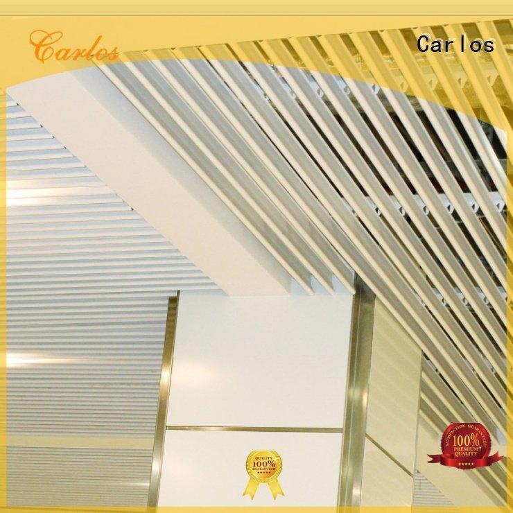 Carlos perforated metal ceiling tiles suppliers ceiling metal grille series