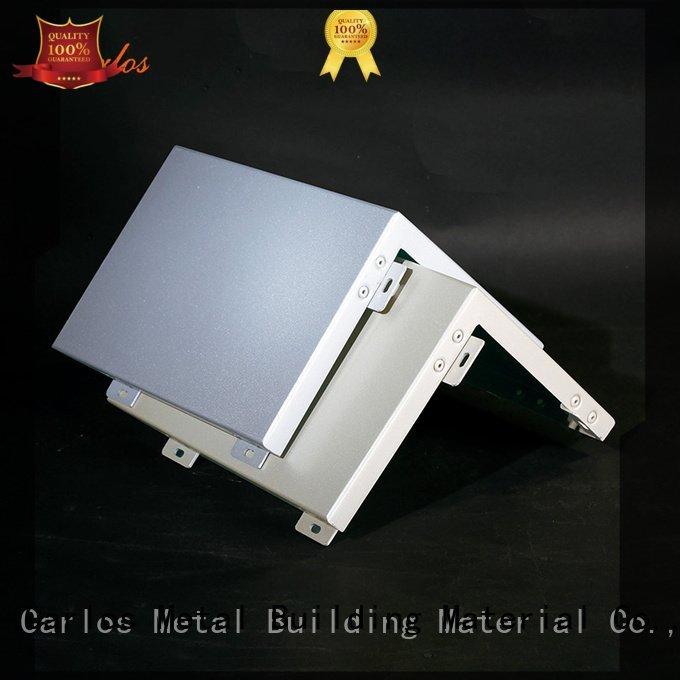 single wavy Carlos aluminum wall panels exterior square veneer aluminum