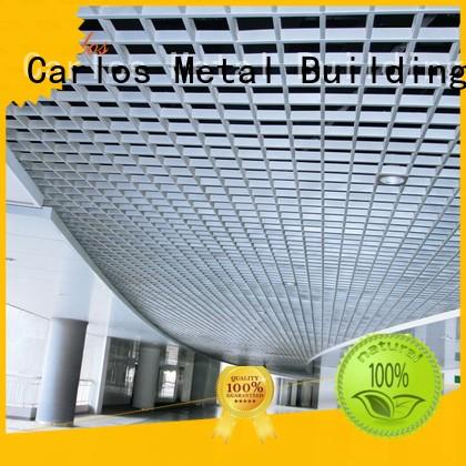 Carlos Brand baffle blade ceilings metal ceiling panels manufacture