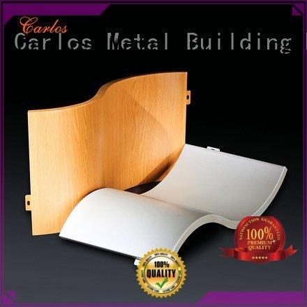 Carlos aluminum wall panels exterior columns bag hyperbolic flat