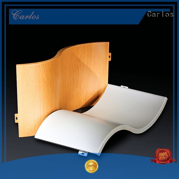Carlos Brand column metal flatseam aluminum wall panels exterior