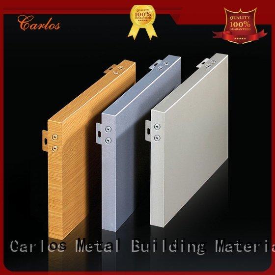 Custom package veneer aluminum panels