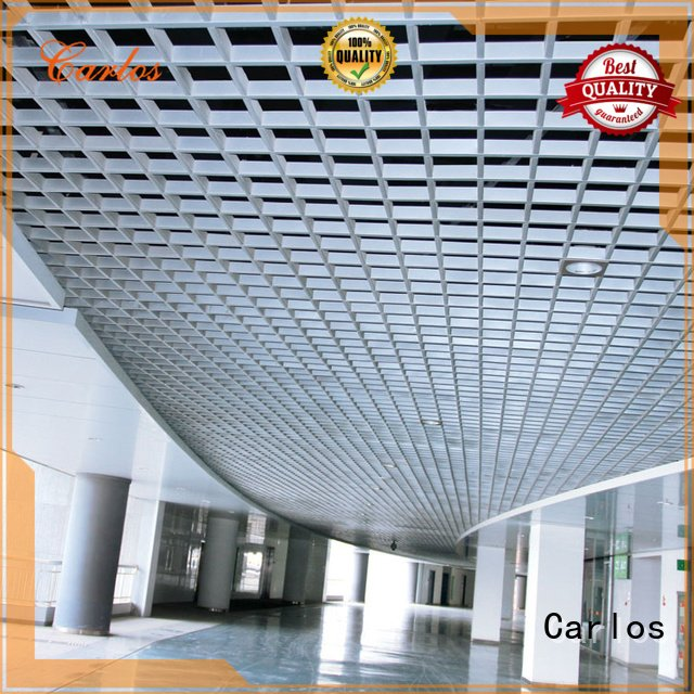 Carlos grille ceilings metal perforated metal ceiling tiles suppliers buckle