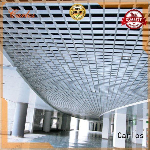 Carlos grille ceilings metal perforated metal ceiling tiles suppliers buckle
