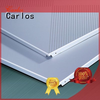 Carlos metal ceiling panels square series through grille