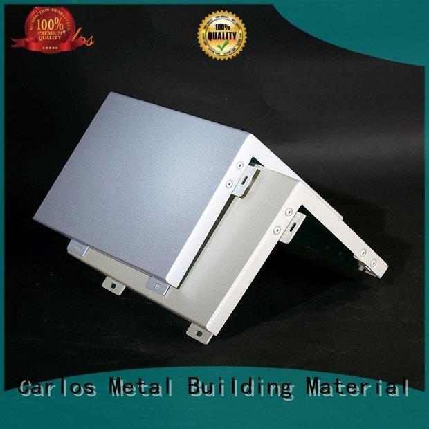 Carlos Brand circular hollow aluminum panels columns wavy