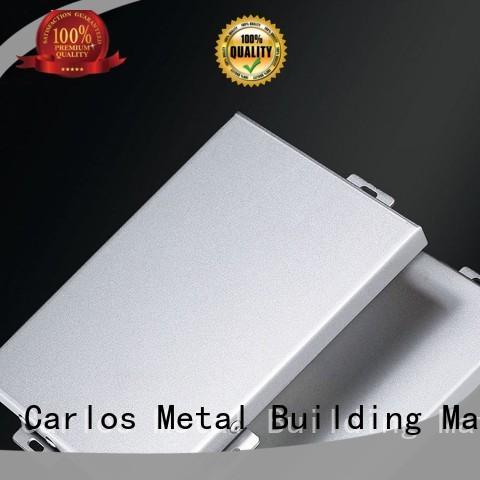 Carlos Brand aluminum corrugated aluminum wall panels exterior package