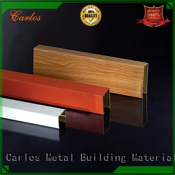 Carlos Brand buckle series ceilings metal ceiling panels through