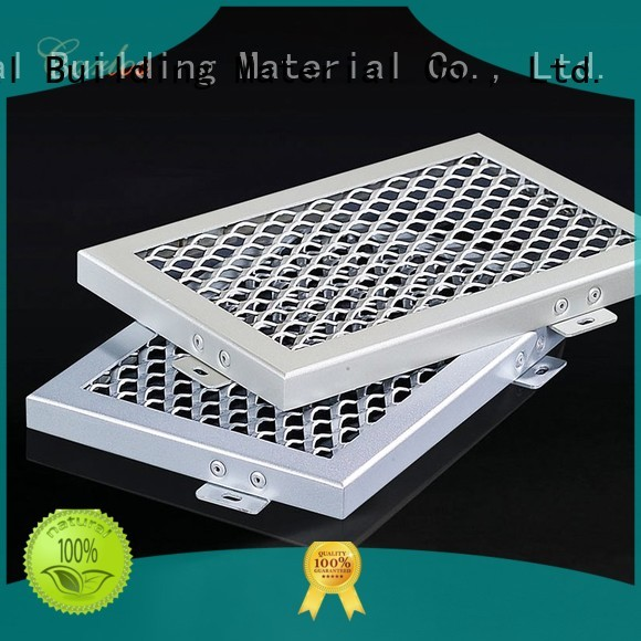 Hot baffle metal ceiling panels buckle grille Carlos Brand