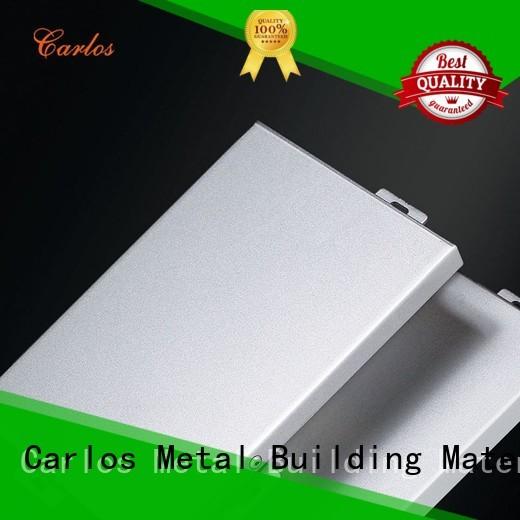 Carlos Brand board panel custom aluminum wall panels exterior