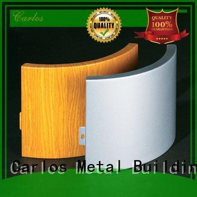 aluminum wall panels exterior flatseam Carlos Brand aluminum panels