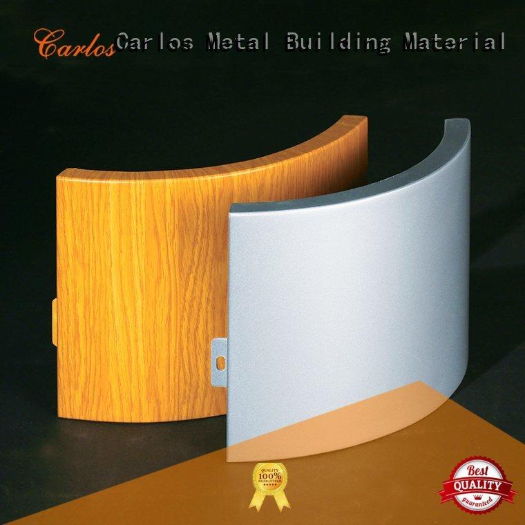 square panel wavy Carlos aluminum wall panels exterior