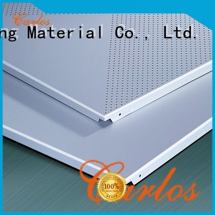 square buckle baffle blade Carlos Brand metal ceiling panels supplier