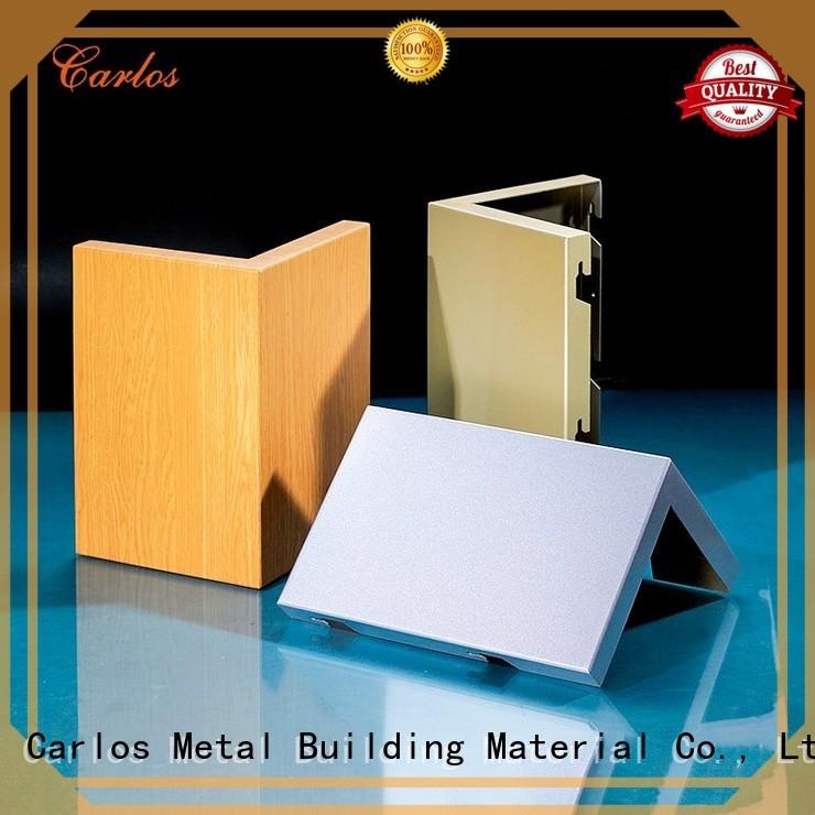 aluminum wall panels exterior art seamless Carlos Brand company