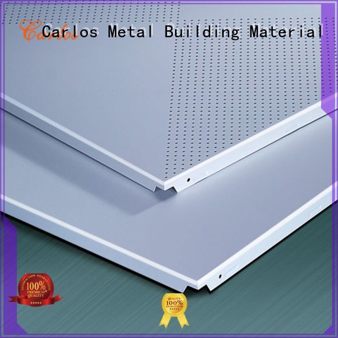 square buckle Carlos perforated metal ceiling tiles suppliers