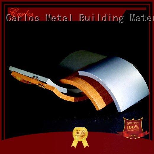 Carlos aluminum wall panels exterior bag single flat hyperbolic