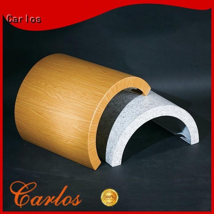 Carlos Brand sewing square circular aluminum panels manufacture