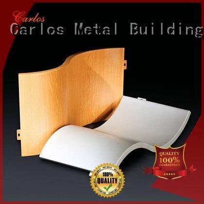 Carlos corrugated flatseam aluminum panels round art