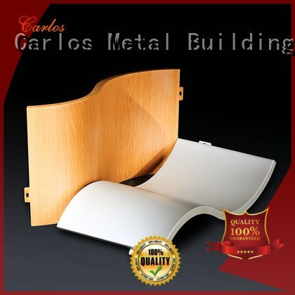 Carlos corrugated flatseam aluminum panels round art