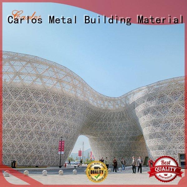 Carlos Brand round aluminum veneer aluminum wall panels exterior