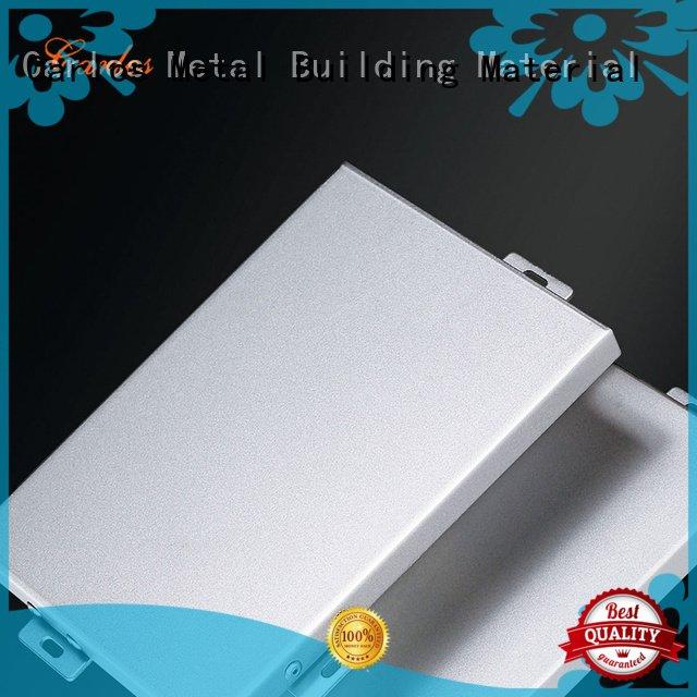 Custom modeling aluminum panels flatseam aluminum wall panels exterior