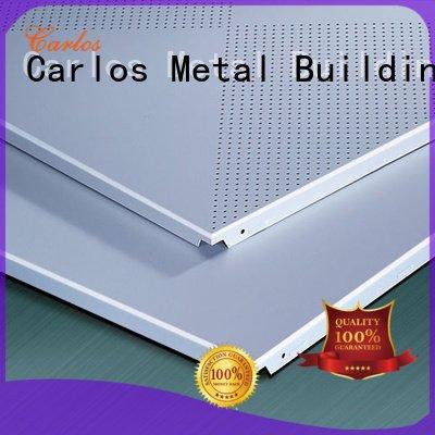 ceilings through grille square Carlos metal ceiling panels