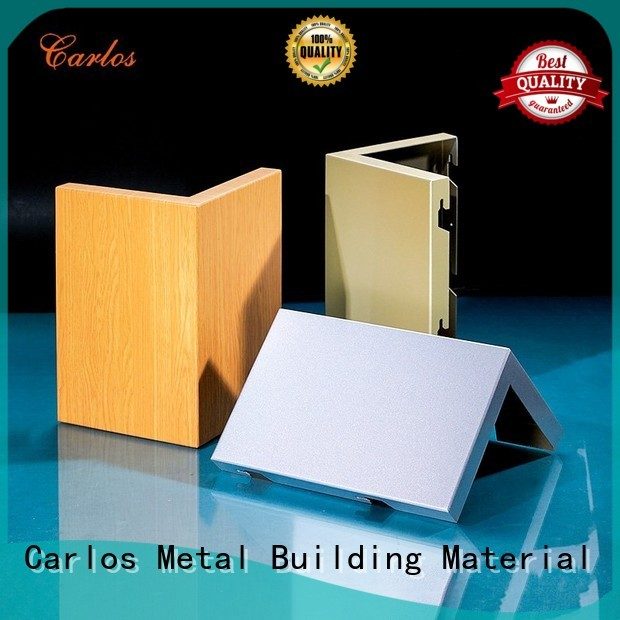 aluminum wall panels exterior seamless round Carlos Brand company
