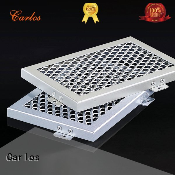 Quality perforated metal ceiling tiles suppliers Carlos Brand side metal ceiling panels