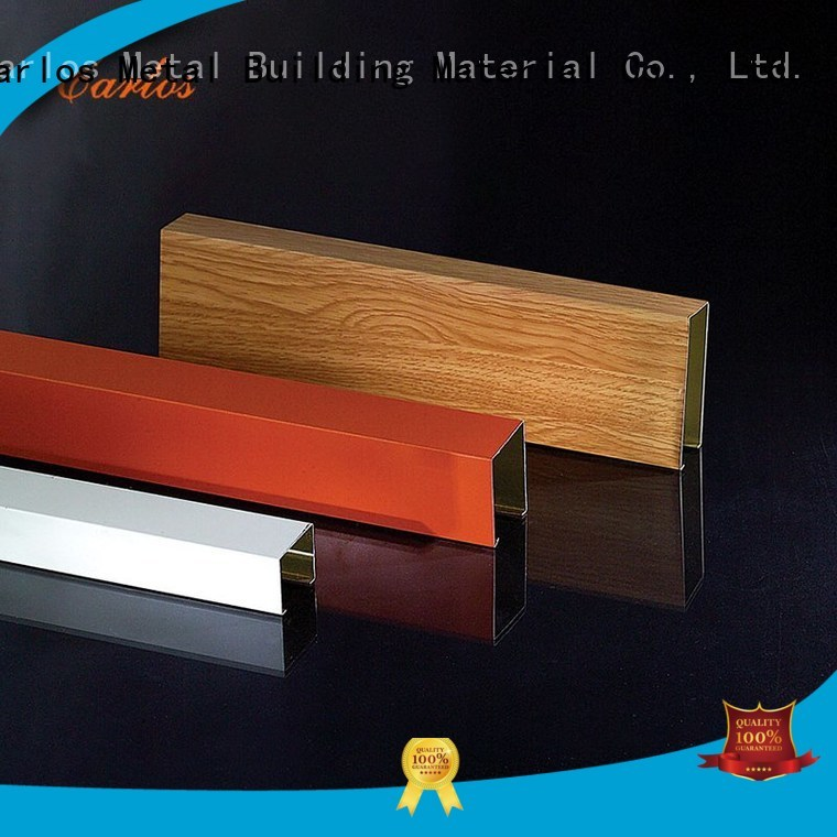 Carlos Brand blade square metal ceiling panels manufacture