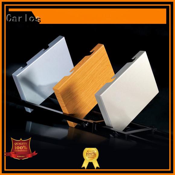 Carlos Brand round veneer package modeling aluminum panels