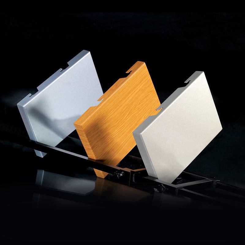 Flat seamless aluminum veneer
