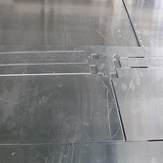 Aluminum veneer processing