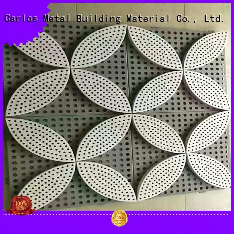 column aluminum wall panels exterior hyperbolic Carlos company
