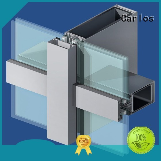 Custom wall aluminum aluminum curtain wall Carlos casement