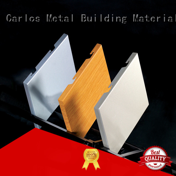 Carlos Brand single seamless panel custom aluminum wall panels exterior